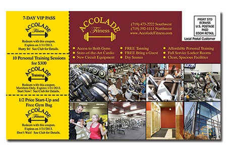 Accolade Fitness - Postcard Design