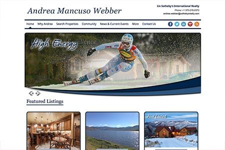 Andrea Mancuso Webber – Website Design and Development