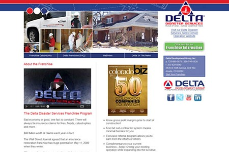 Delta Disaster Services – Before Adroit Redesign