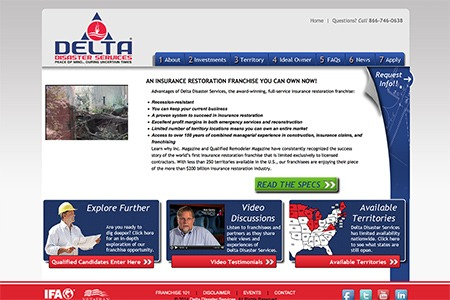 Delta Disaster Services - After Adroit Redesign