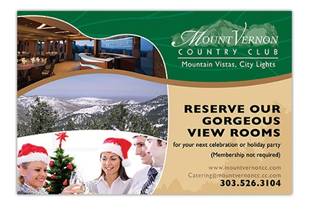 Mount Vernon Country Club - Postcard Design