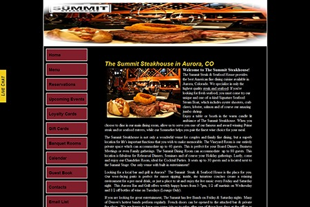 The Summit Steakhouse – Before Adroit Redesign