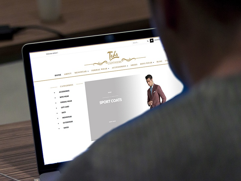 Ted's Clothiers – Website Design