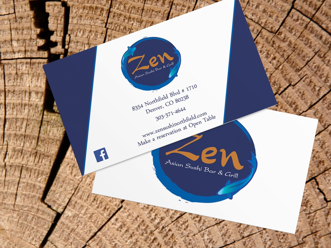 Zen business cards graphic design tree ring digital project description colourmoves